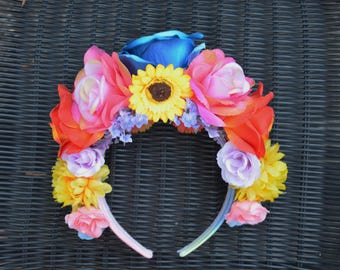 Spring Time Flower Headband/ Flower Crown