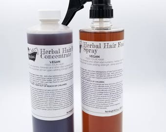 Herbal Hair Food Natural Vitamins Nutrients for Longer, Stronger, Thicker Hair and Healthy Scalp