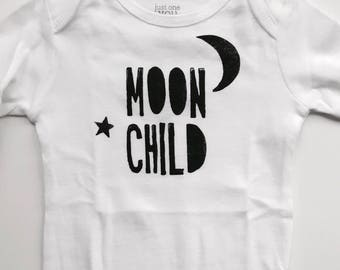 Bodysuit - Moon Child / Black and White