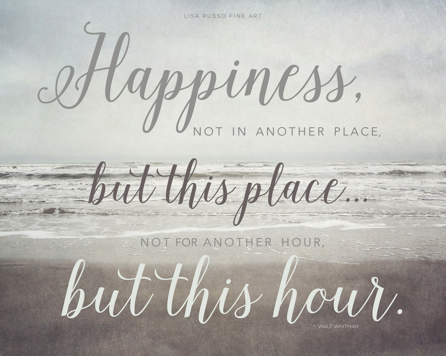 A Quote About Happiness Typography Print Walt Whitman Quote Inspirational Quote