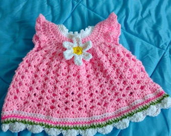 Daisy dress and matching hat.  Made to order