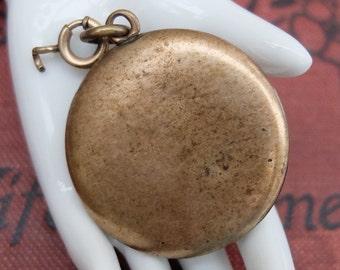 Vintage Plain Locket Antique Brass Pendant