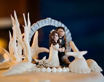 Destination Wedding Cake Topper,Custom wedding cake topper, moongate cake topper, Bride and groom cake topper, Mr and Mrs cake topper