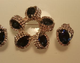 FREE  SHIPPING  Hobe Brooch and  Earrings