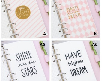 Encourage Words Style PP Dividers - 1PCS  Planner dividers for A5 or A6