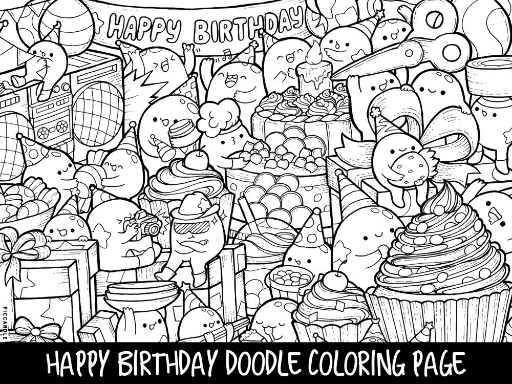 Impeccable image inside printable kawaii coloring pages