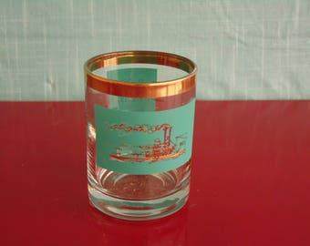 Vintage Shot Glass - 1960s Jigger - Federal Glassware - Mid Century Barware