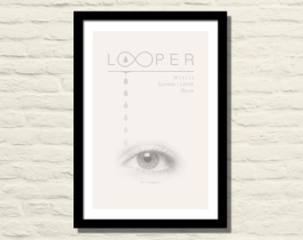 Looper Movie Poster, Art Print, 11 X 17, Joseph Gordon Levitt , Minimalist Poster, Home Decor
