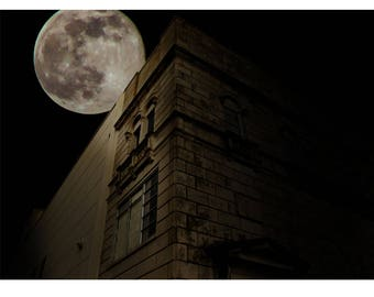 Fine Art Landscape Photography - Gothic Moon, Industrial, Moon, Space, Prints, Canvas