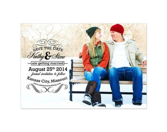 Save The Date Photoshop Template 003