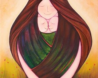 Lazos eternos, Obra Original 30cmx40cm de NanniArt.
