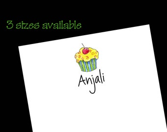 Personalized Cupcake Notepads - Cupcake Gift ~ 3 sizes