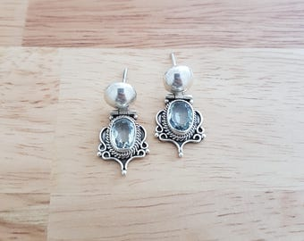 Aquamarine Sterling Silver Gemstone Earrings