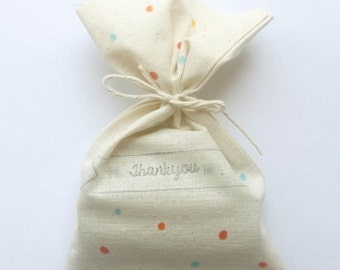 Polka Dot Party, confetti Favour Bags - Multi colour polka dot, confetti x 10