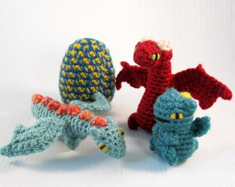 Mini Pets in Eggs - Dragon Hatchling Amigurumi Patterns PDF - Crochet Pattern