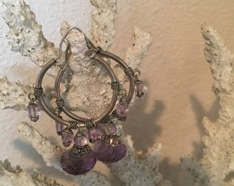 Sterling silver vintage drop earrings
