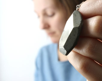 Faceted Pyrite Necklace