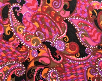 Genuine 1950's/1960's patterned paisley furnishing fabric