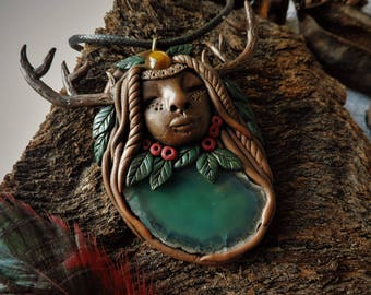 Forest collection goddess necklace
