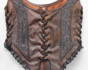 Divine Diva leather lace corset