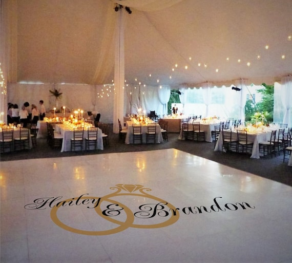 Dance Floor Decal Wedding Decor Wedding Decoration Monogram
