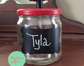 Pretty Upcycled Storage Jar - Small