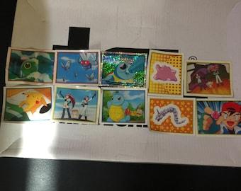 Nintendo Pokemon Collectible Stickers X 10