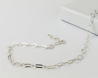 3.7mm Sterling Silver Flat Cable Chain #BSC089