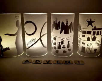 DIY Printable for Advent Lights (PDF Download)