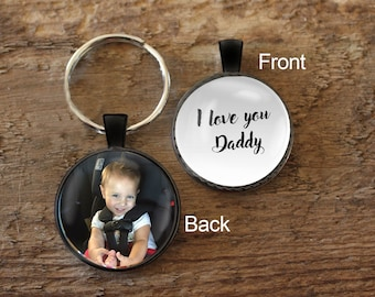 Daddy Key chain, Gift for Dad, Keychain for Daddy, Personalized Key chain, Sonogram for Daddy, Photo Keychain, Ultrasound Keychain