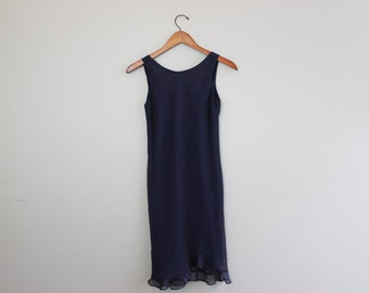 Vintage 80s Blue Dress by Donna Ricco Girl
