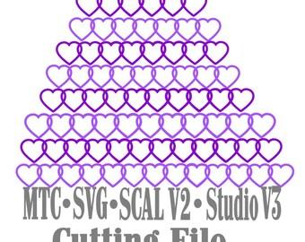 SVG coupe bordure coeur Set #01 embellissement MTC Cricut SCAL V2 Silhouette Coupe du fichier
