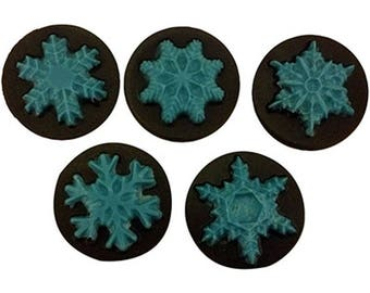 Snowflake Round Sandwich Cookie Chocolate Mold