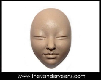 Mold No.74 (Face- closed eyes) by Veronica Jeong