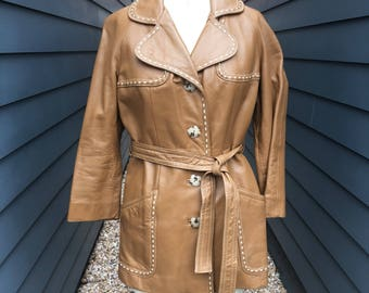 1970s Leather Jacket // 24k by Dan Di Modes // Vintage leather jacket