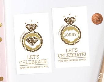Gold Glitter Bridal Shower Scratch Off Cards - Bridal Shower Game -  Bachelorette Party Game