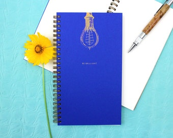 Be Brilliant - Gold Holographic Foil Journal