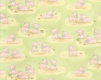 1/2 yard of Timeless Treasure Cotton Tale Farm  - Pigs  by Bunnies by the Bay