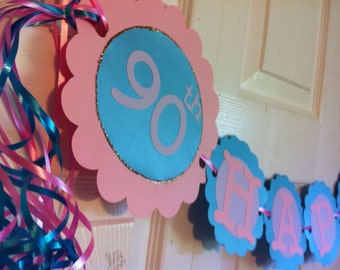 90th Birthday Banner Personalization Available