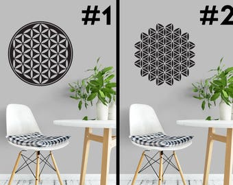 Sacred Geometry - 10 Designs - Vinyl Wall Decals - Flower of Life - Golden Ratio - Fractal