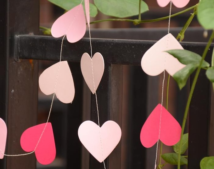 SALE 5 SETS Love Heart Paper Garland Banner - Wedding Bunting baby shower Kids Birthday Party Decorations Supplies