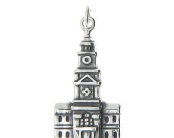Sterling Silver Philadelphia Charm (One Sided charm)