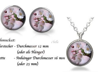 Jewelry Necklace and earrings-cherry blossoms-21