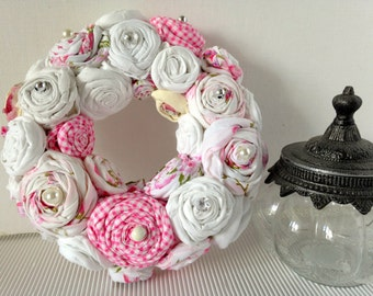 "Wreath ""Rosary"" white/pink"