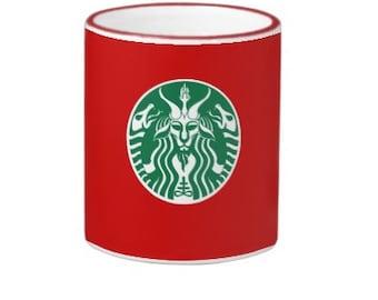 Starbucks Red Cup Baphomet coffee mug