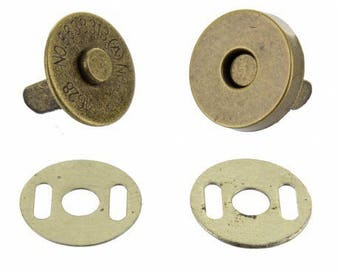 Snap clasp in Bronze 20 mm