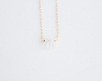 Petals Necklace - 14k Gold Filled or Sterling Silver - Petals