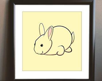 Yellow Bunny Printable
