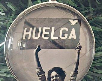 Dolores Huerta Ornament, Si Se Puede, Social Justice, Feminist Christmas, Ornament, 50mm Ornament
