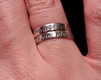 Sterling Stackable Customizable Ring - Sterling Silver